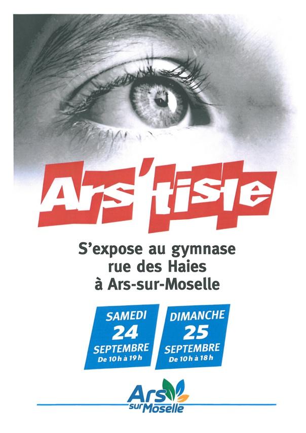 ARS'TISTE s'expose samedi 24 et dimanche 25 septembre
