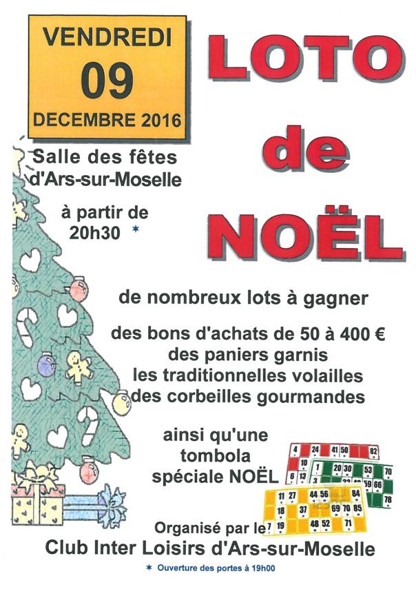 LOTO DE NOEL vendredi 9 décembre