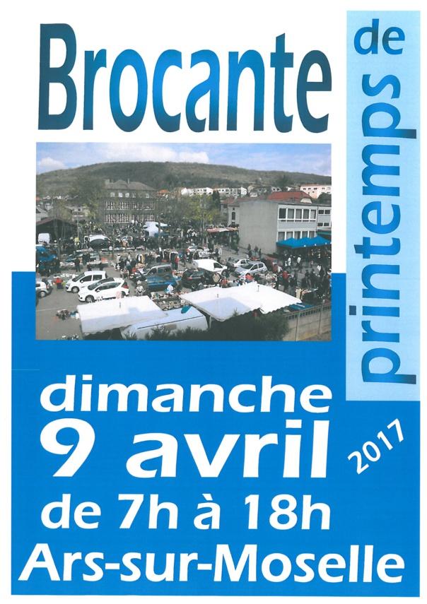 BROCANTE DE PRINTEMPS dimanche 9 avril