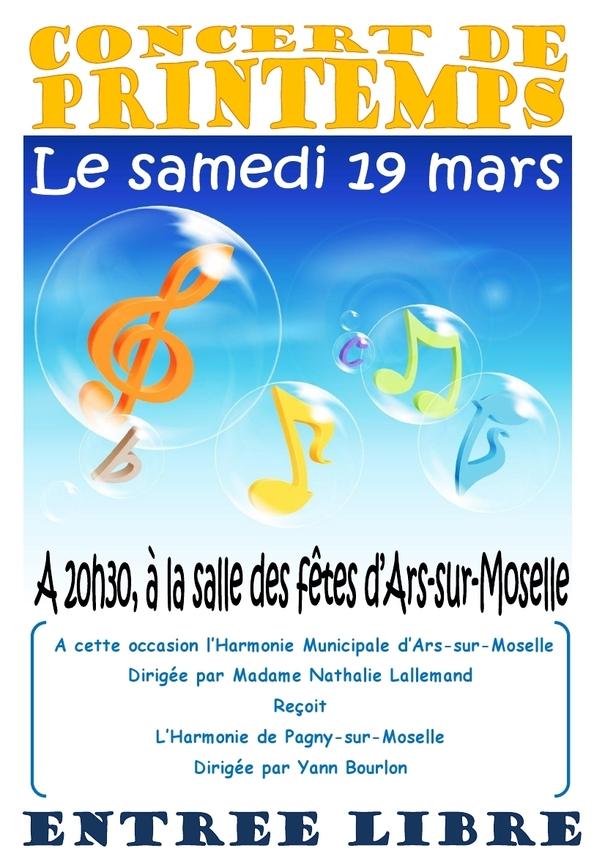 19 mars : concert de printemps de l'Harmonie Muncipale