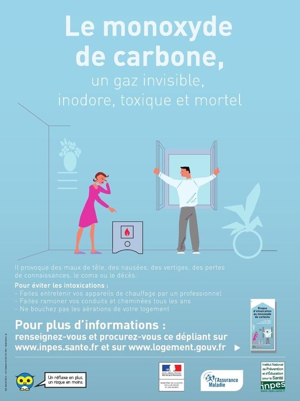 INFORMATION: intoxications au monoxyde de carbone