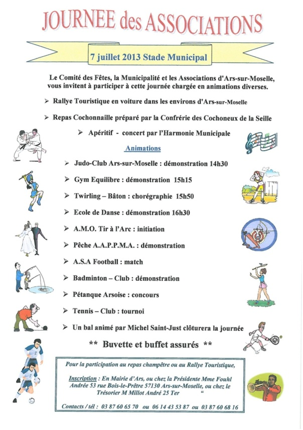 JOURNEE DES ASSOCIATIONS le 7 juillet