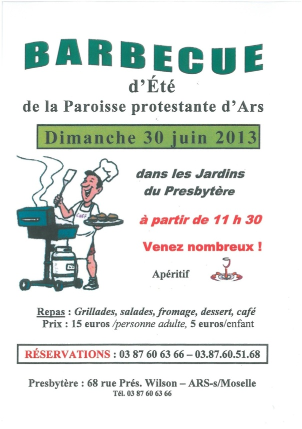BARBECUE D'ETE le 30 juin