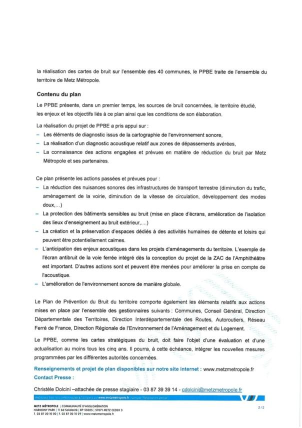PLAN DE PREVENTION DU BRUIT