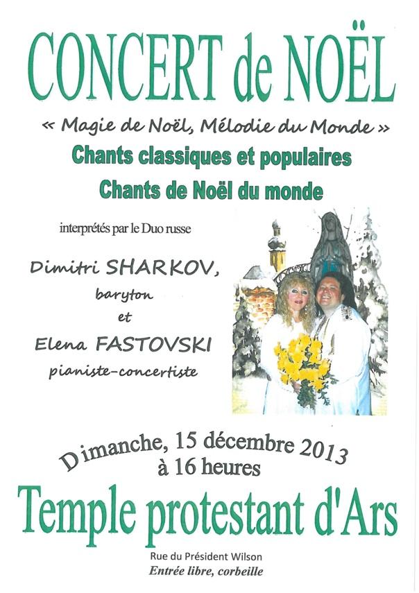 CONCERT DE NOEL Temple protestant dimanche 15 décembre