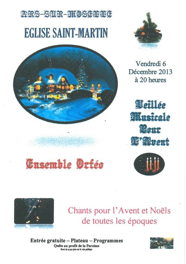VEILLEE MUSICALE POUR L'AVENT vendredi 6 décembre