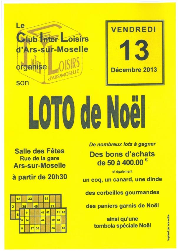 LOTO DE NOEL vendredi 13 décembre