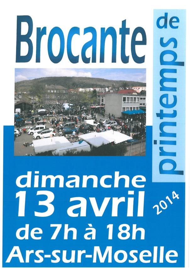 BROCANTE DE PRINTEMPS dimanche 13 avril
