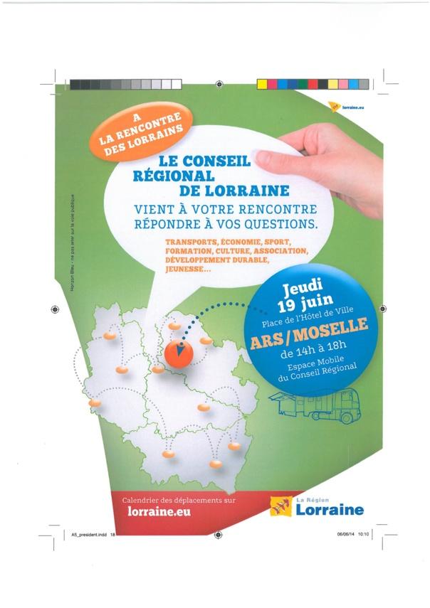 A LA RENCONTRE DU CONSEIL REGIONAL jeudi 19 juin