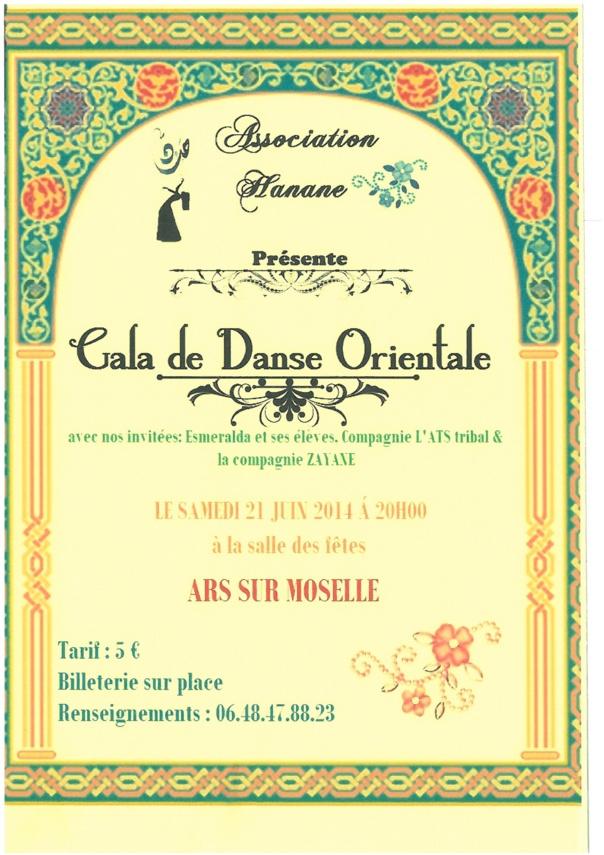 GALA DE DANSE ORIENTALE samedi 21 juin