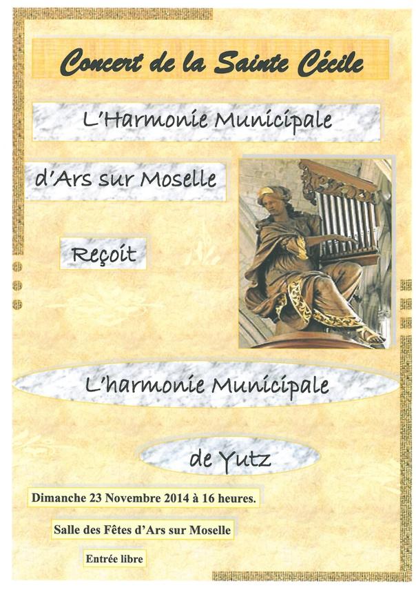 CONCERT DE LA SAINTE CECILE dimanche 23 novembre