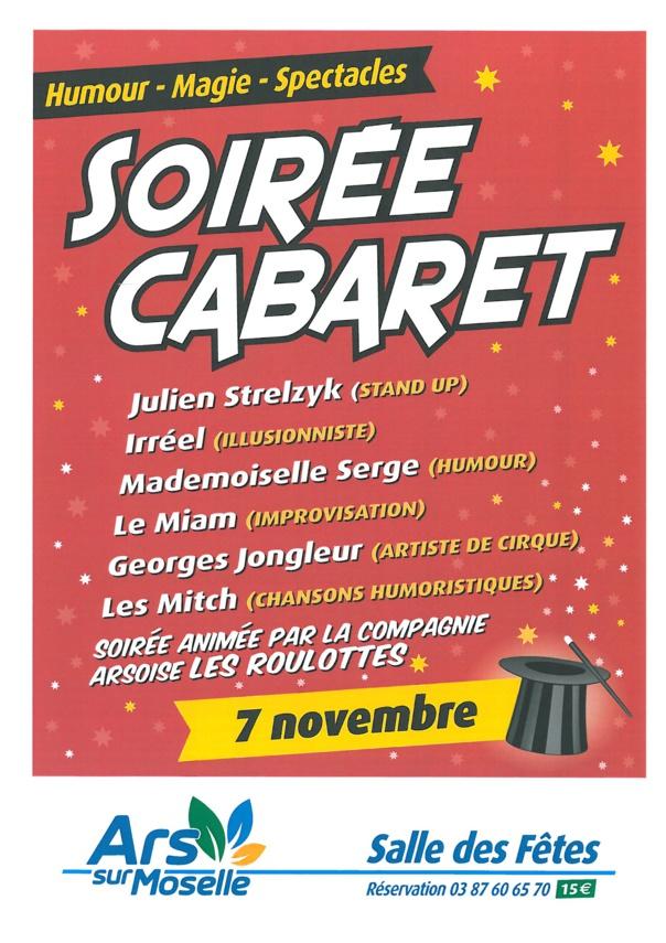 SOIREE CABARET samedi 7 novembre