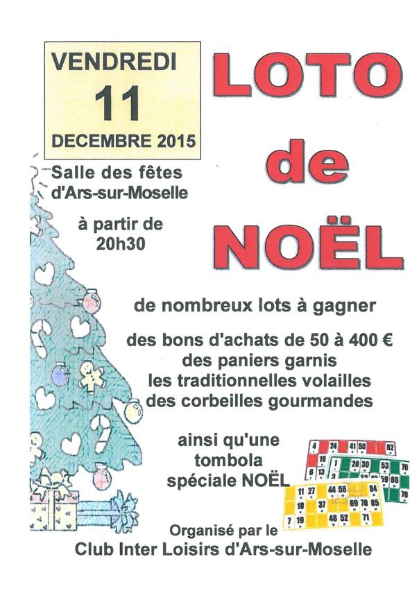 LOTO DE NOEL vendredi 11 décembre