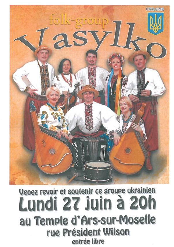 FOLK-GROUP VASYLKO lundi 27 juin