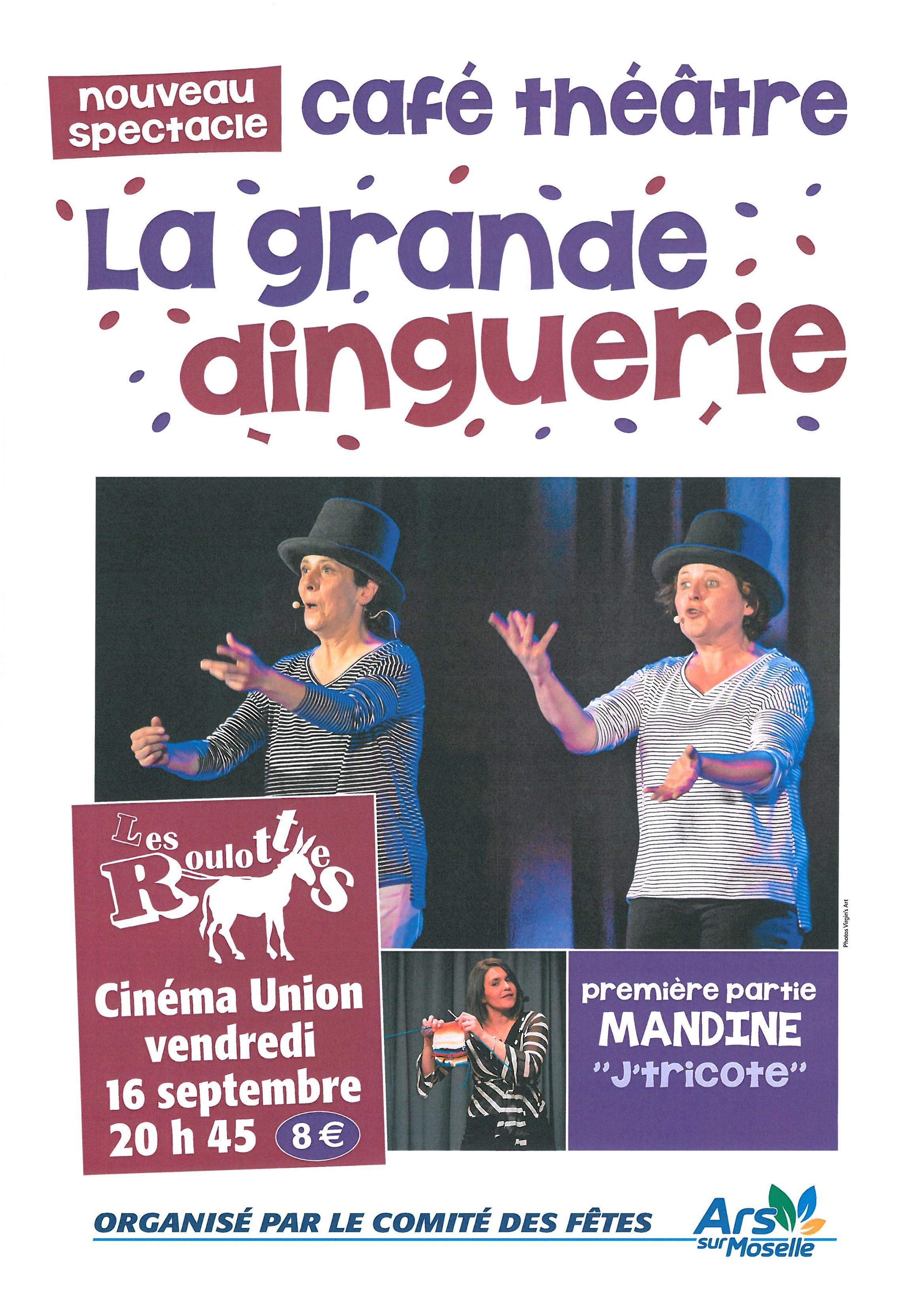 CAFE THEATRE - LA GRANDE DINGUERIE vendredi 16 septembre