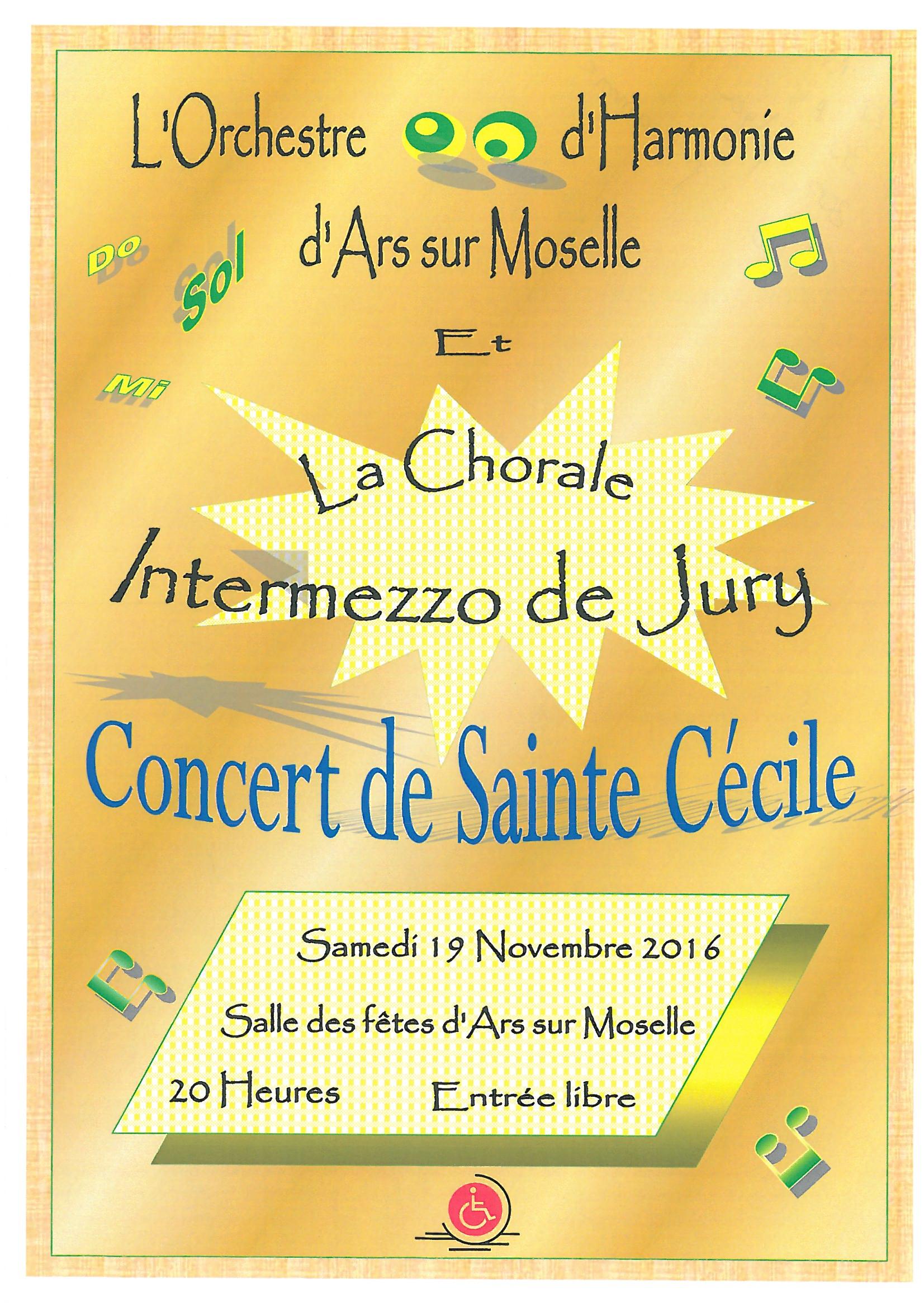 CONCERT DE SAINTE CECILE samedi 19 novembre