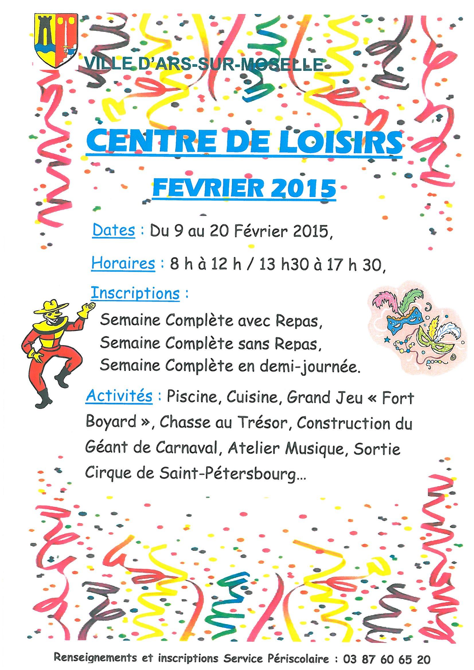 CENTRE DE LOISIRS du 9 au 20 février