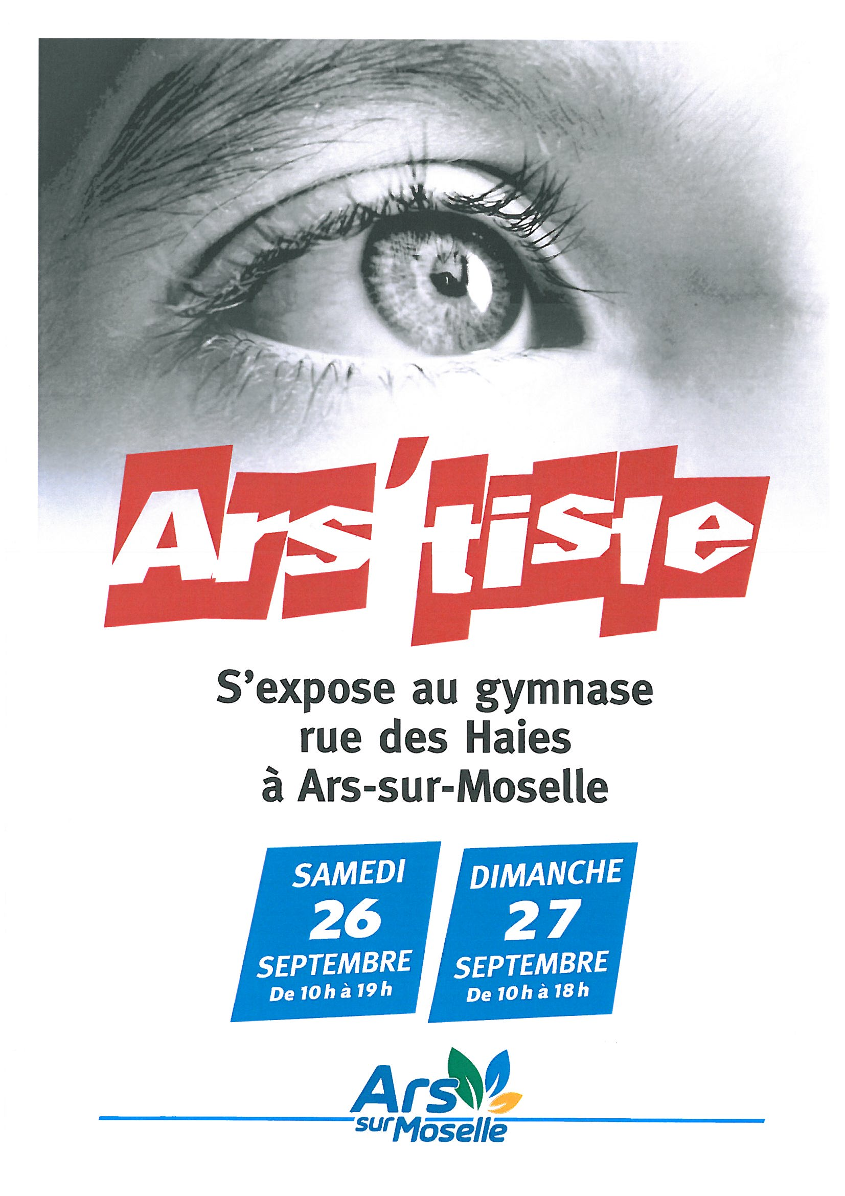 EXPO ARS'TISTE samedi 26 et dimanche 27
