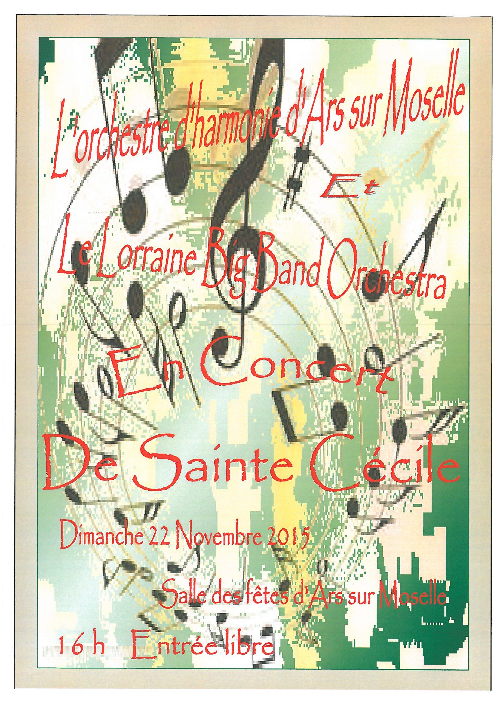 CONCERT DE LA SAINTE CECILE dimanche 22 novembre