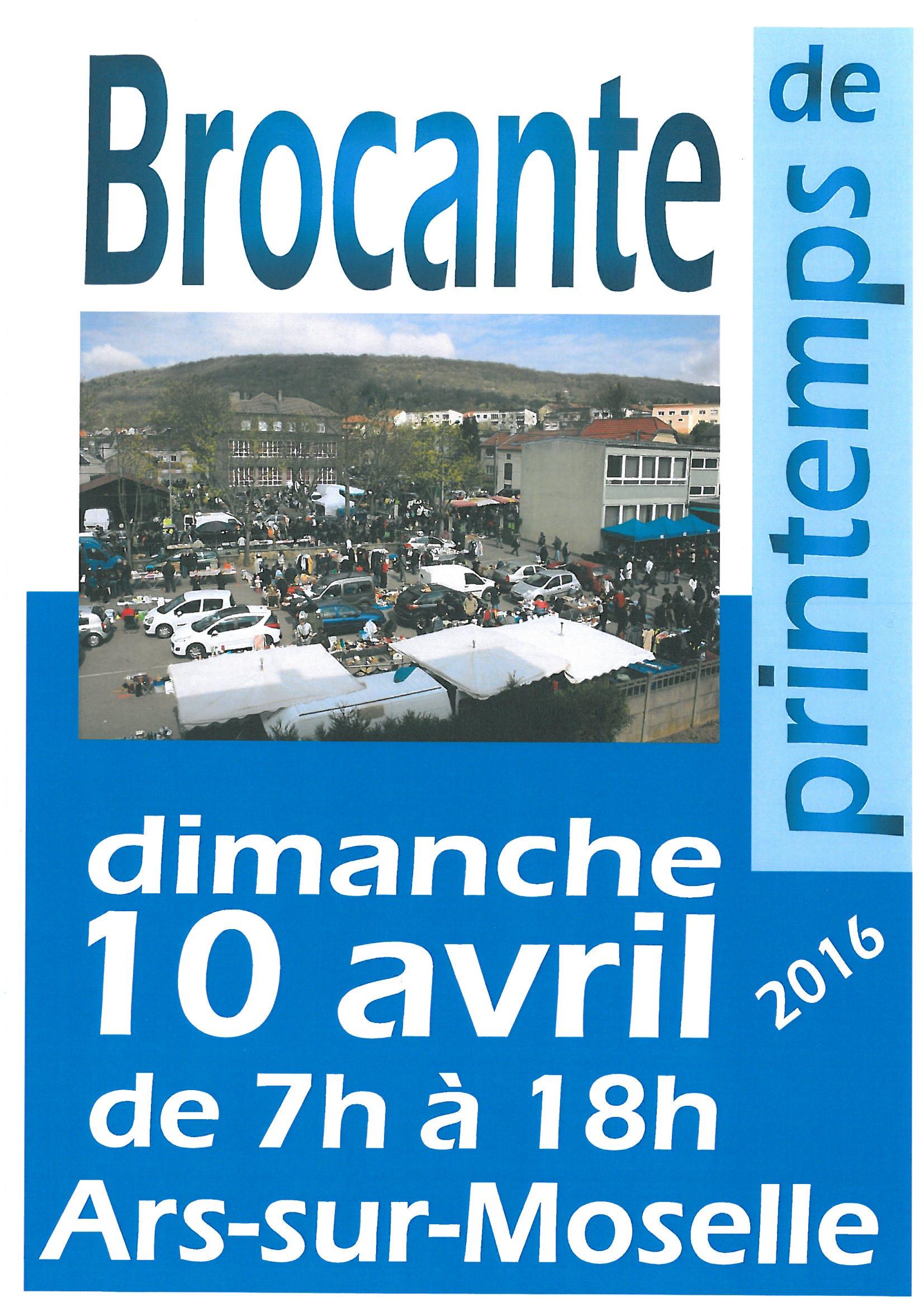 GRANDE BROCANTE DE PRINTEMPS dimanche 10 avril