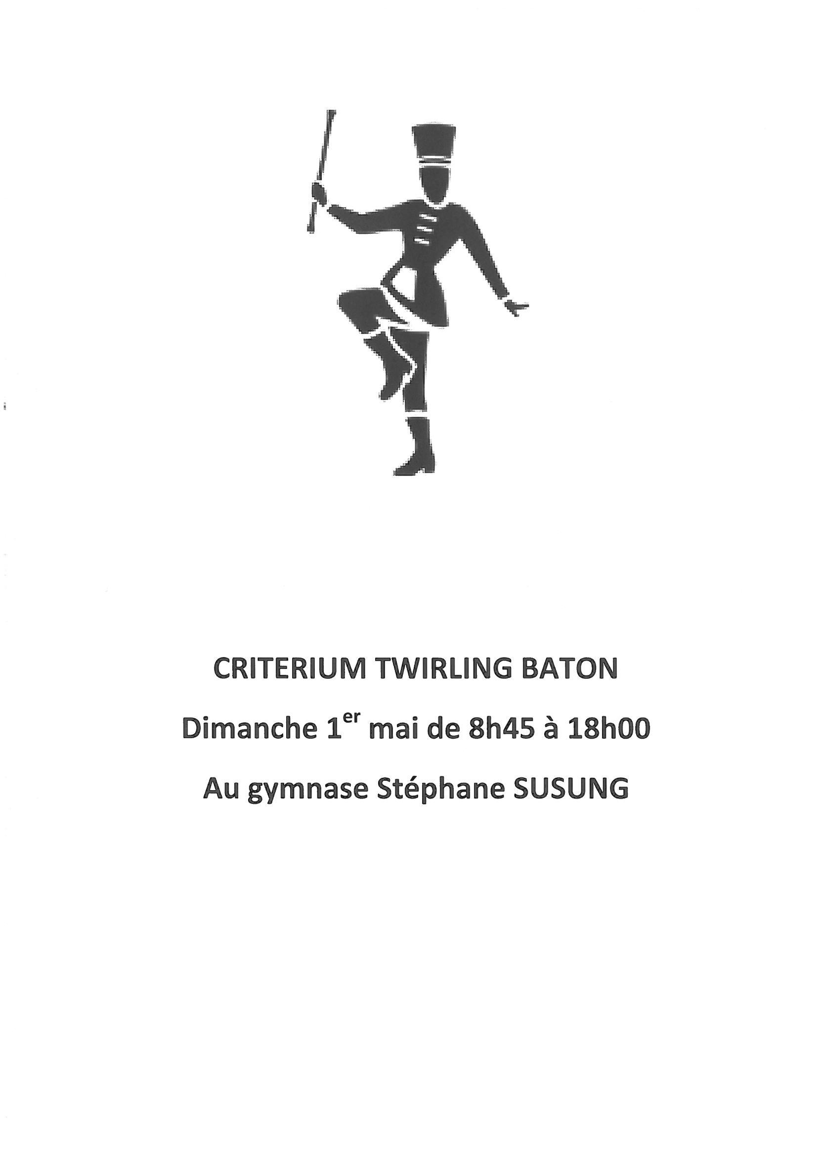 CRITERIUM TWIRLING BATON dimanche 1er mai