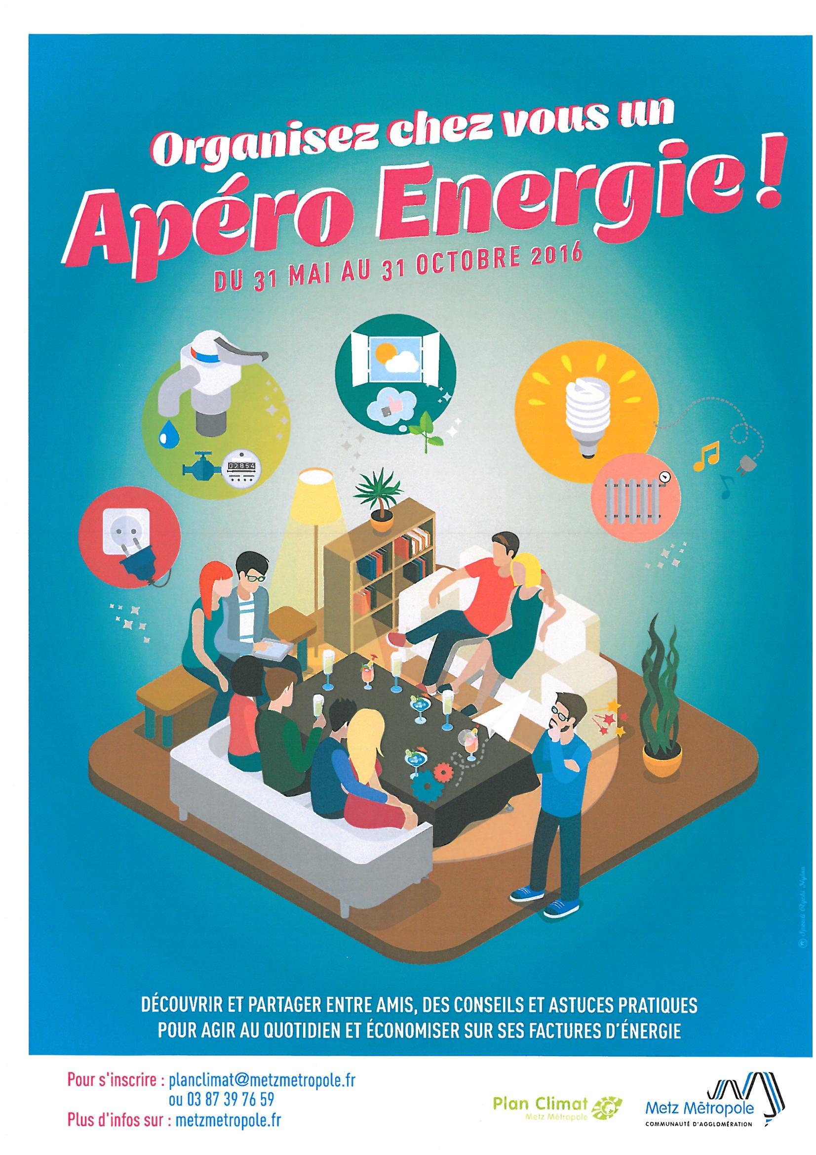 organisez chez vous un APERO ENERGIE du 31 mai au 31 octobre 2016