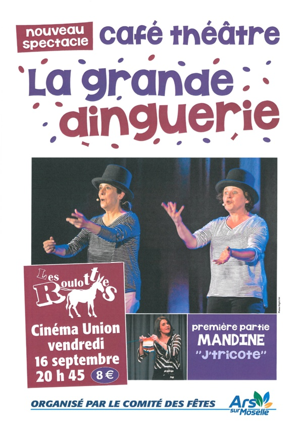 CAFE THEATRE - LA GRANDE DINGUERIE vendredi 16 septembre