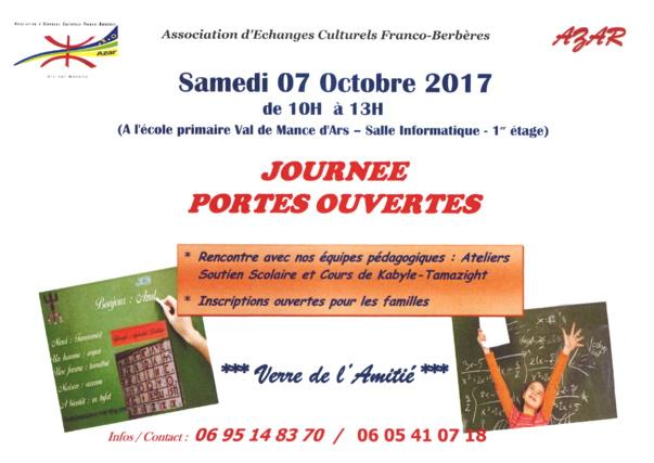 JOURNEE PORTES OUVERTES AZAR samedi 7 octobre