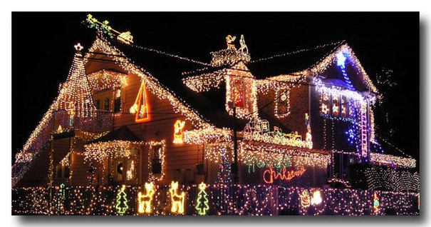 Maisons illuminées