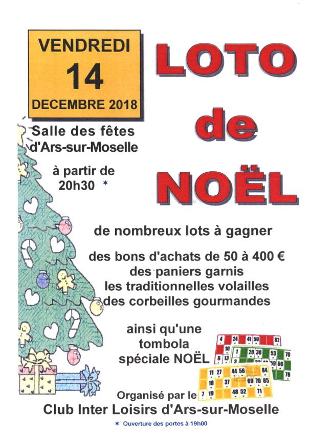 LOTO DE NOEL vendredi 14 décembre
