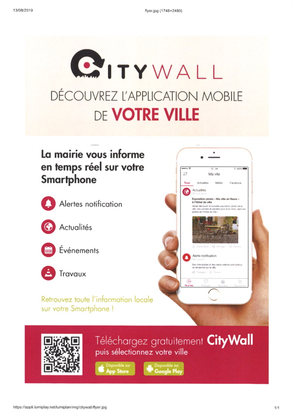 APPLICATION MOBILE CITY WALL de votre ville à télécharger