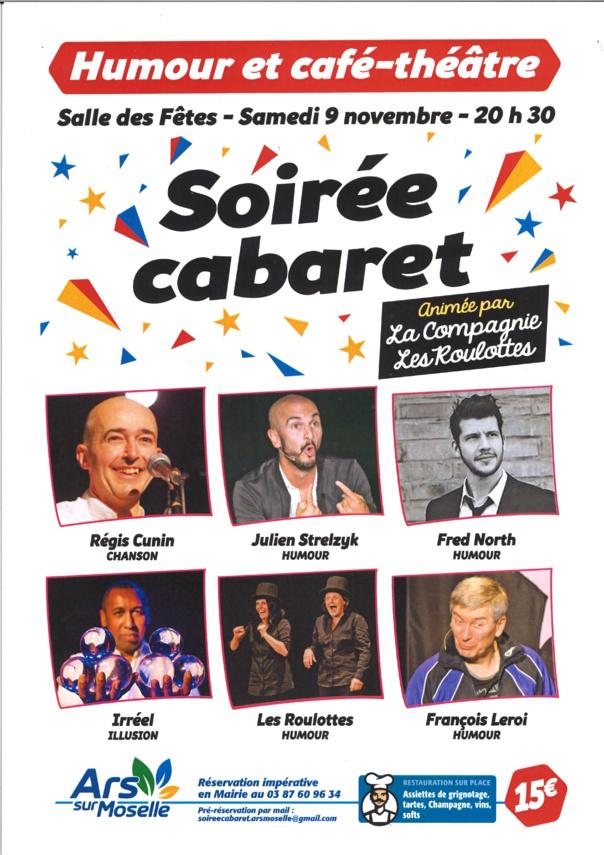 SOIREE CABARET samedi 9 novembre