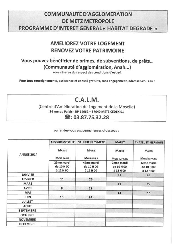 CENTRE D'AMELIORATION DU LOGEMENT DE LA MOSELLE (CALM)