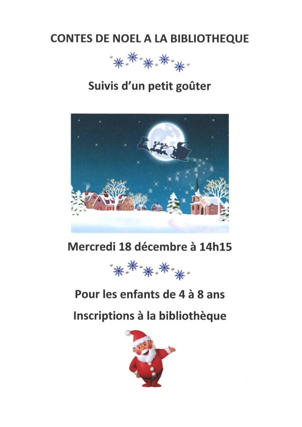 CONTES DE NOEL A LA BIBLIOTHEQUE mercredi 18 décembre