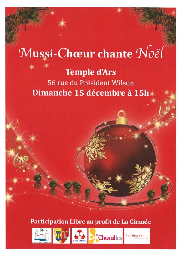 MUSSI-CHOEUR CHANTE NOEL dimanche 15 décembre