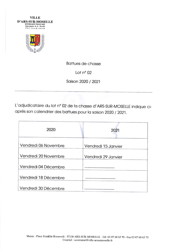 BATTUES 2020-2021 lot n°2