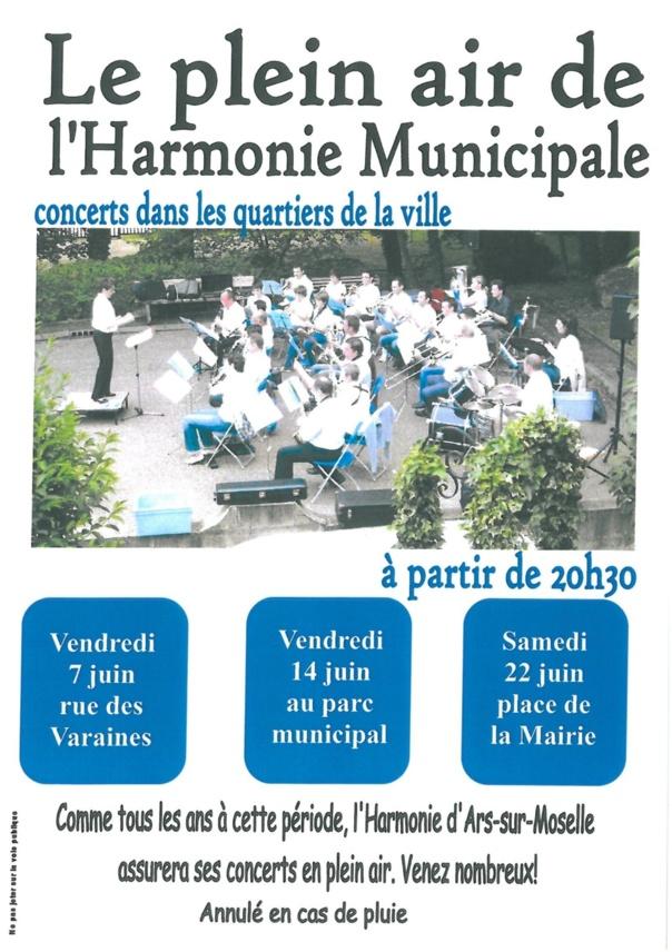 LE PLEIN AIR DE L'HARMONIE MUNICIPALE Les 7/14/22 juin