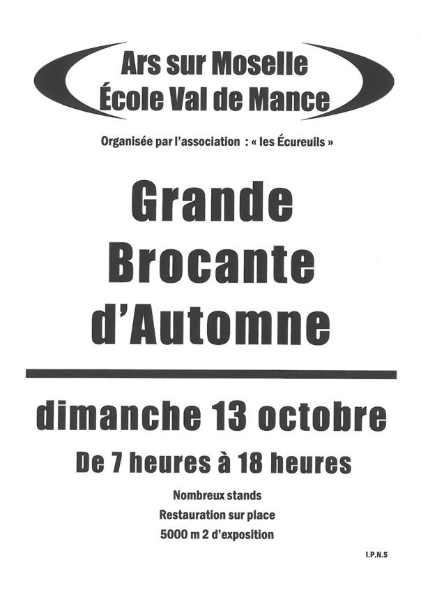 GRANDE BROCANTE D'AUTOMNE dimanche 13 octobre