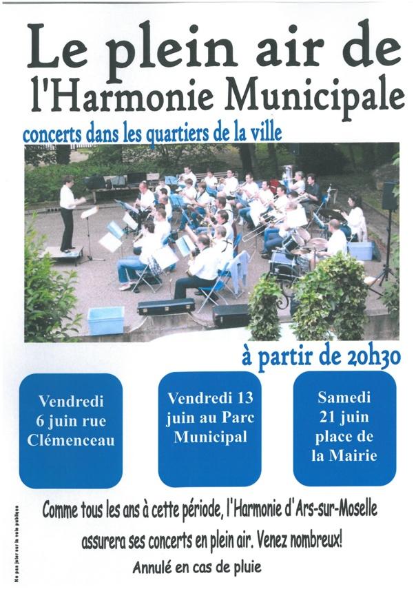 LE PLEIN AIR de l'Harmonie Municipale les  6/13/21 juin