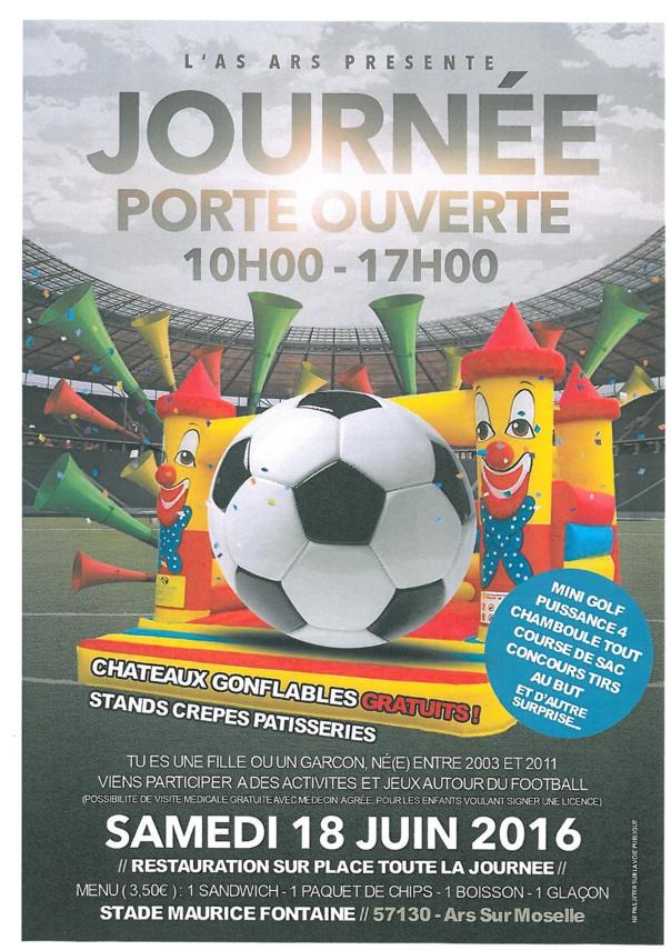 JOURNEE PORTE OUVERTE DE L'AS ARS samedi 18 juin