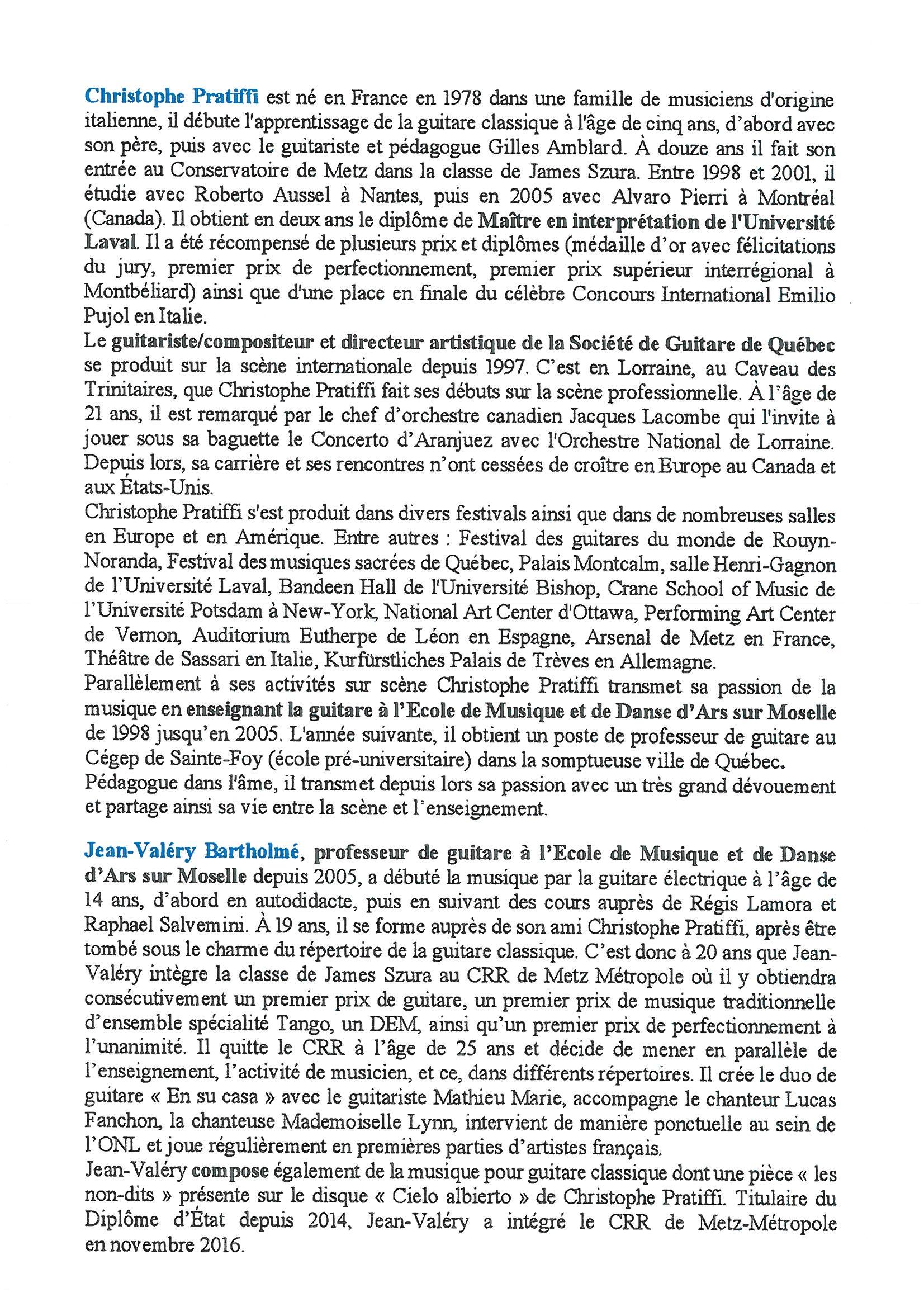 CONCERT DE GUITARE dimanche 11 juin