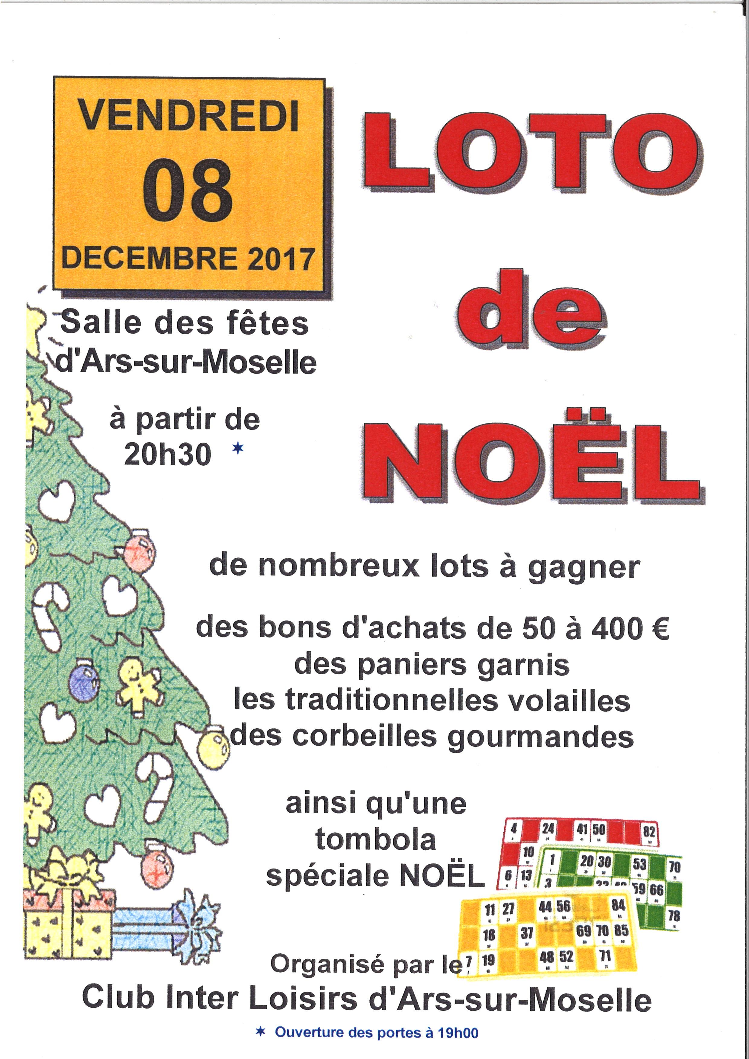 LOTO DE NOEL vendredi 8 décembre