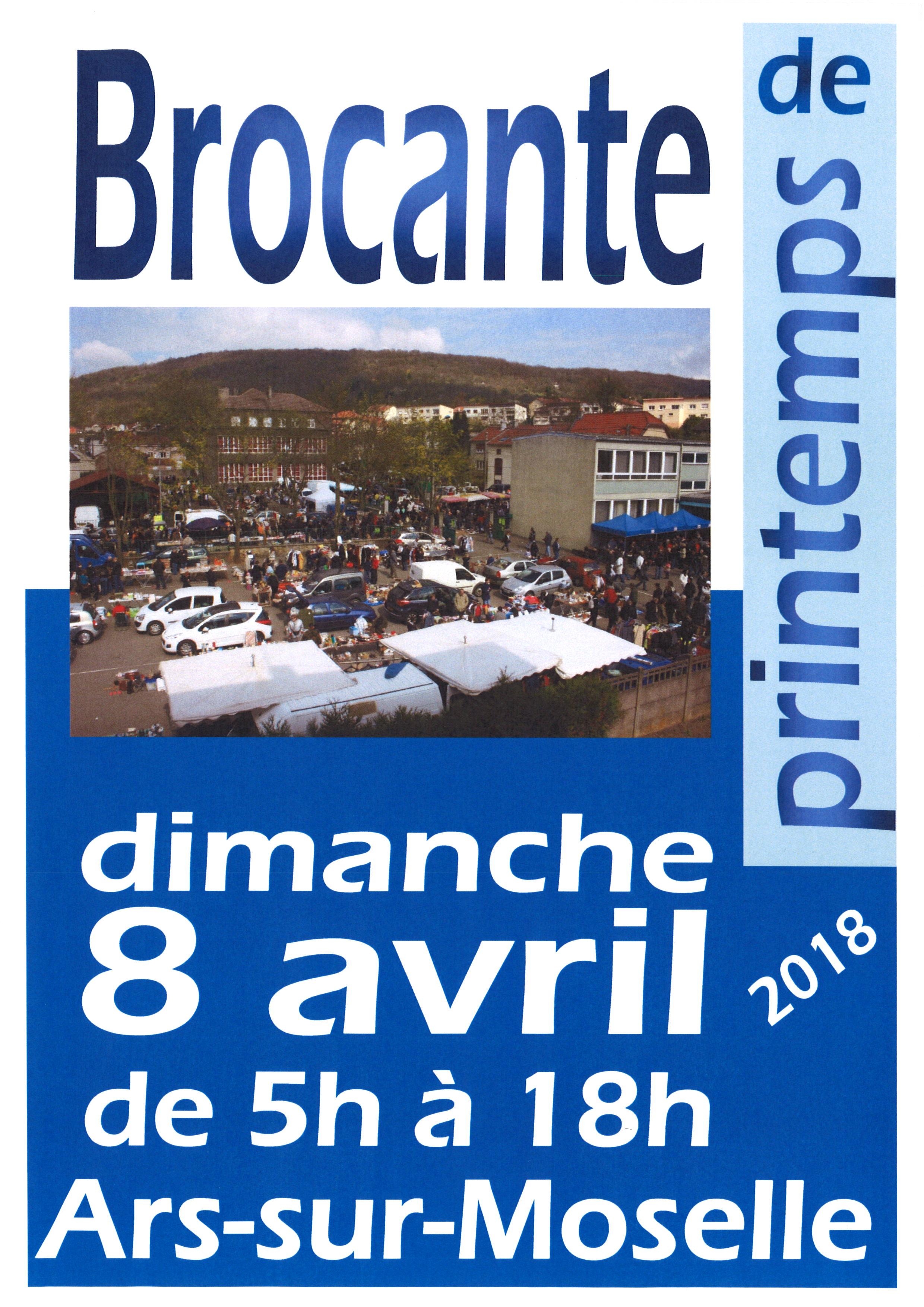 BROCANTE DE PRINTEMPS dimanche 8 avril