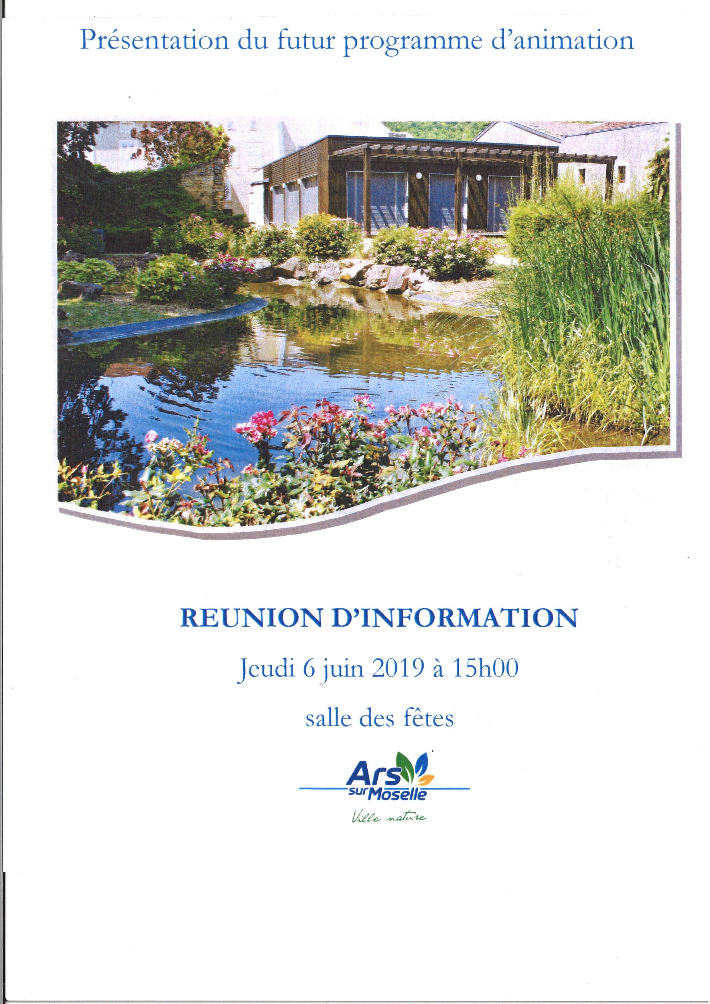REUNION D'INFORMATION PROJET SENIORS jeudi 6 juin