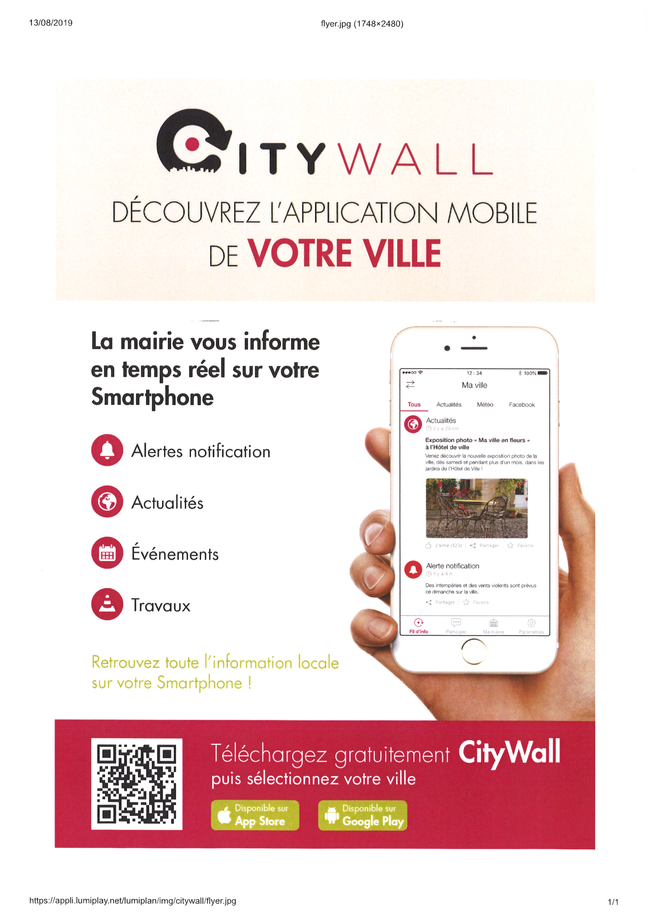APPLICATION MOBILE CITY WALL de votre ville à télécharger