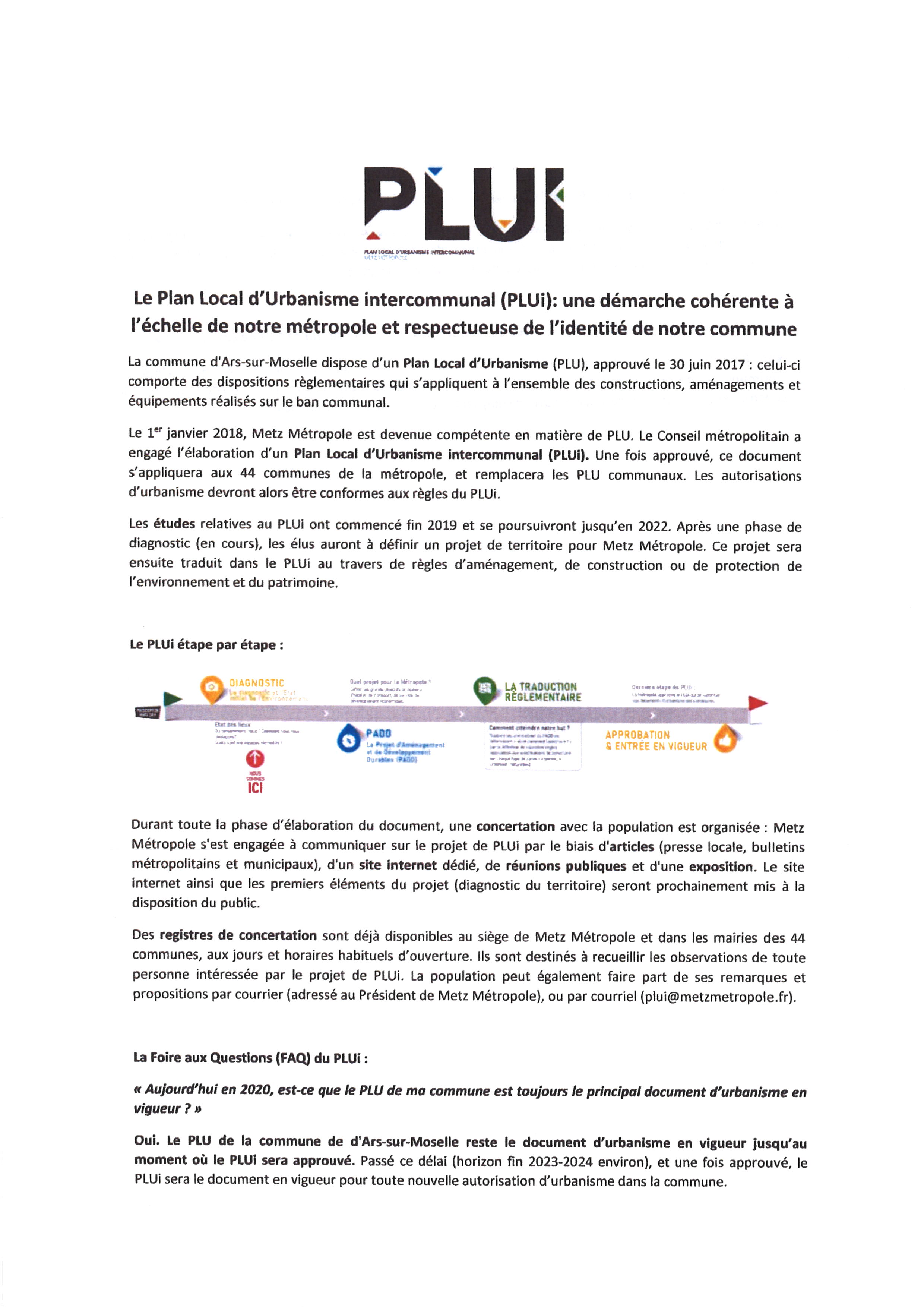 Le Plan Local d'Urbanisme Intercommunal (PLUI)