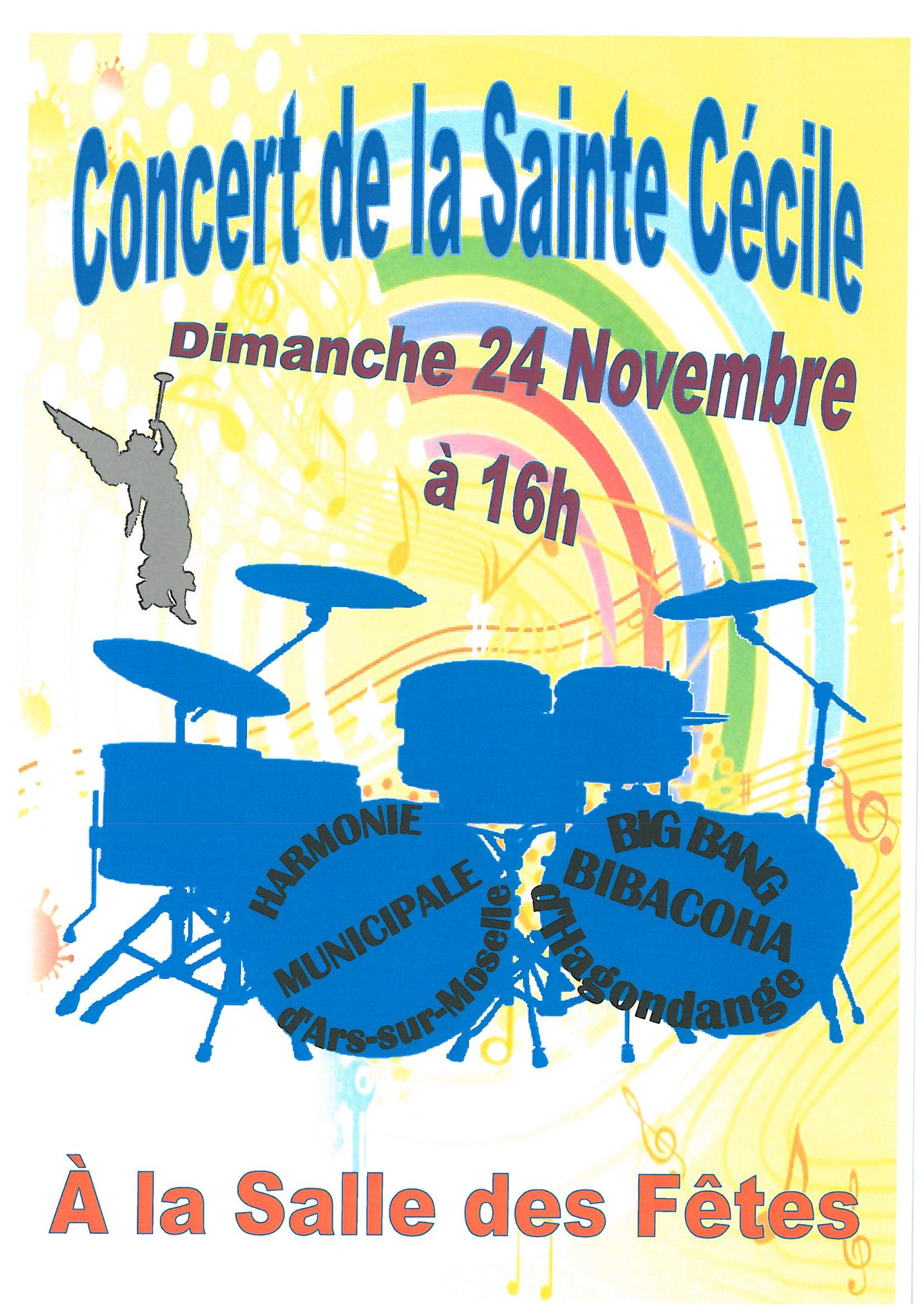 CONCERT DE LA SAINTE CECILE dimanche 24 novembre