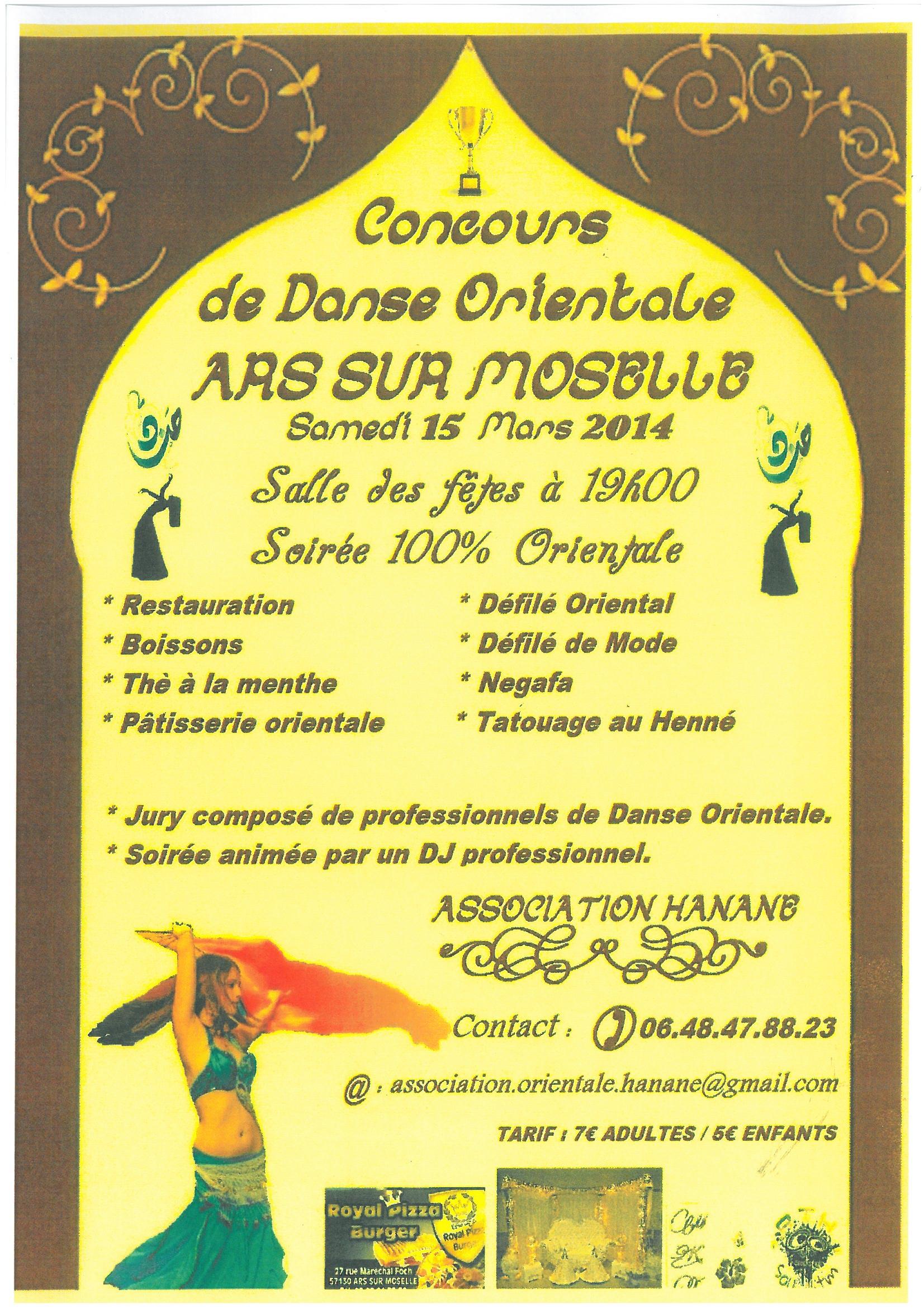 CONCOURS DE DANSE ORIENTALE samedi 15 mars