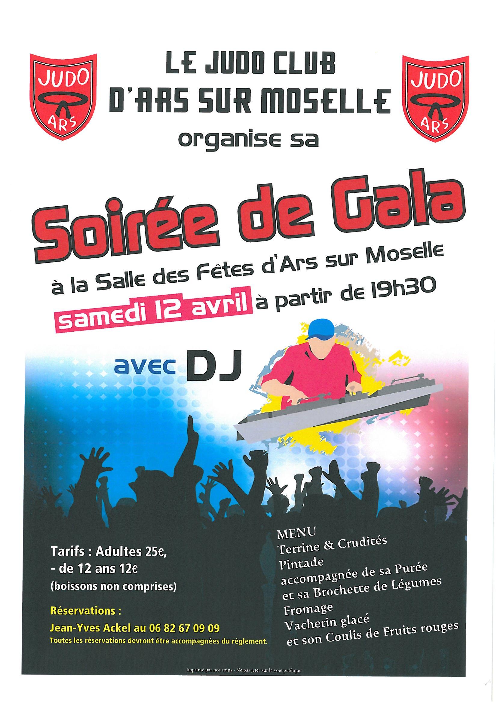 SOIREE DE GALA du judo samedi 12 avril