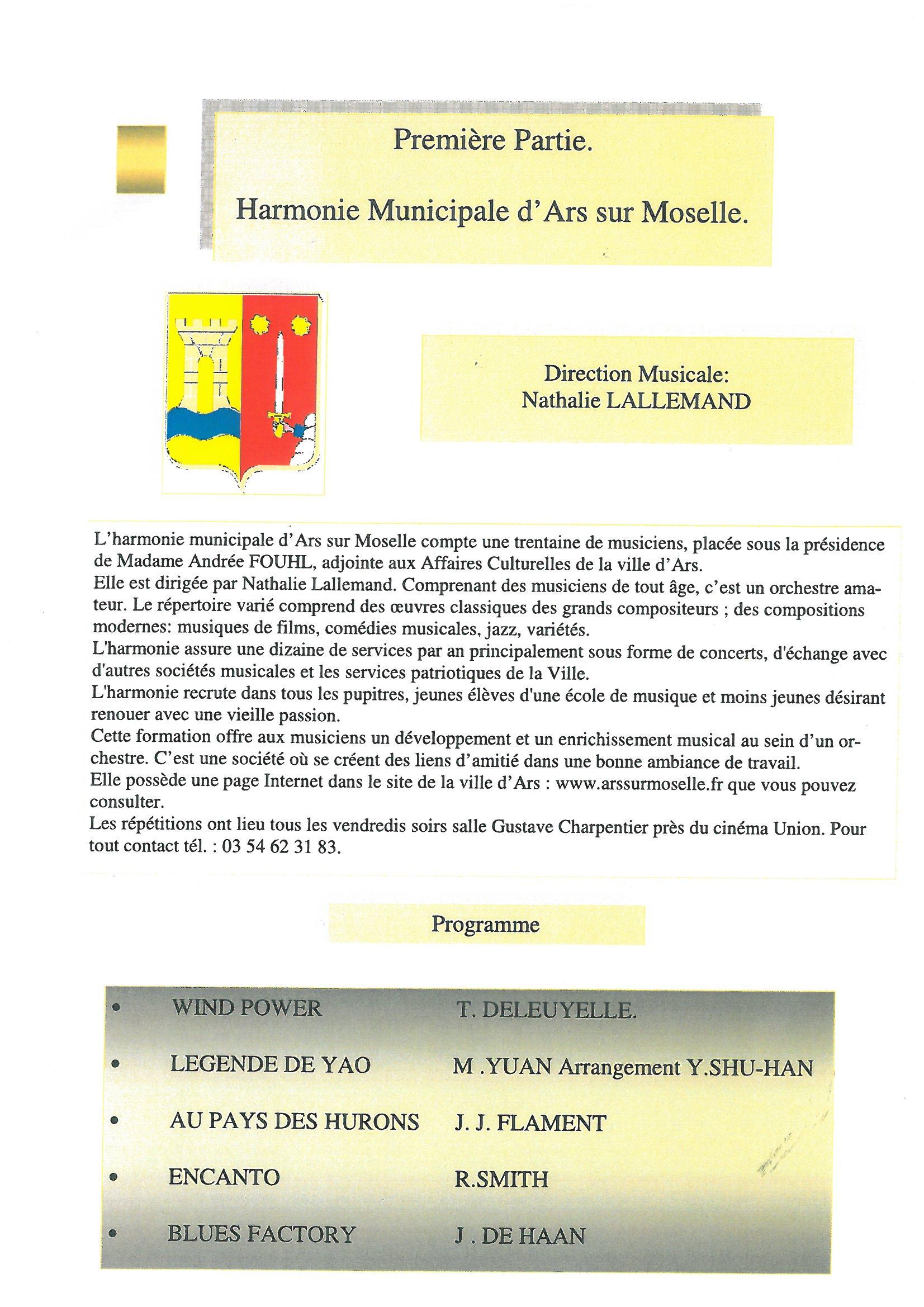 CONCERT DE PRINTEMPS de l'HARMONIE MUNICIPALE dimanche 18 mai